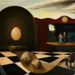"""Tableau de Benoît Moraillon, """"Théâtre"""". Image du colloque international : Drame contemporain, renaissance ou extinction ? (12-14 octobre 2015)"""