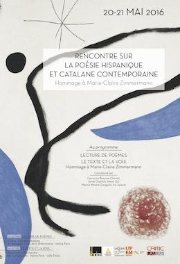 Poésie hispanique et catalane - Hommage à Marie-Claire Zimmermann (2) - Le Texte et la Voix