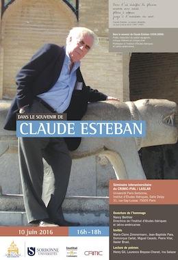 Dans le souvenir de Claude Esteban