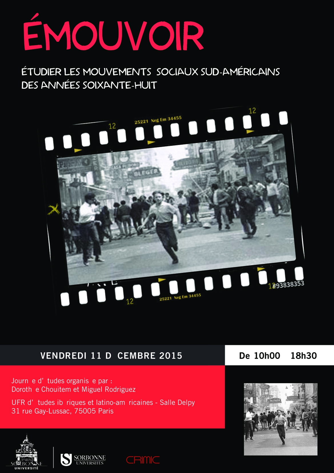 Émouvoir : étudier les mouvements sociaux sud-américains des années 68 au prisme des affects