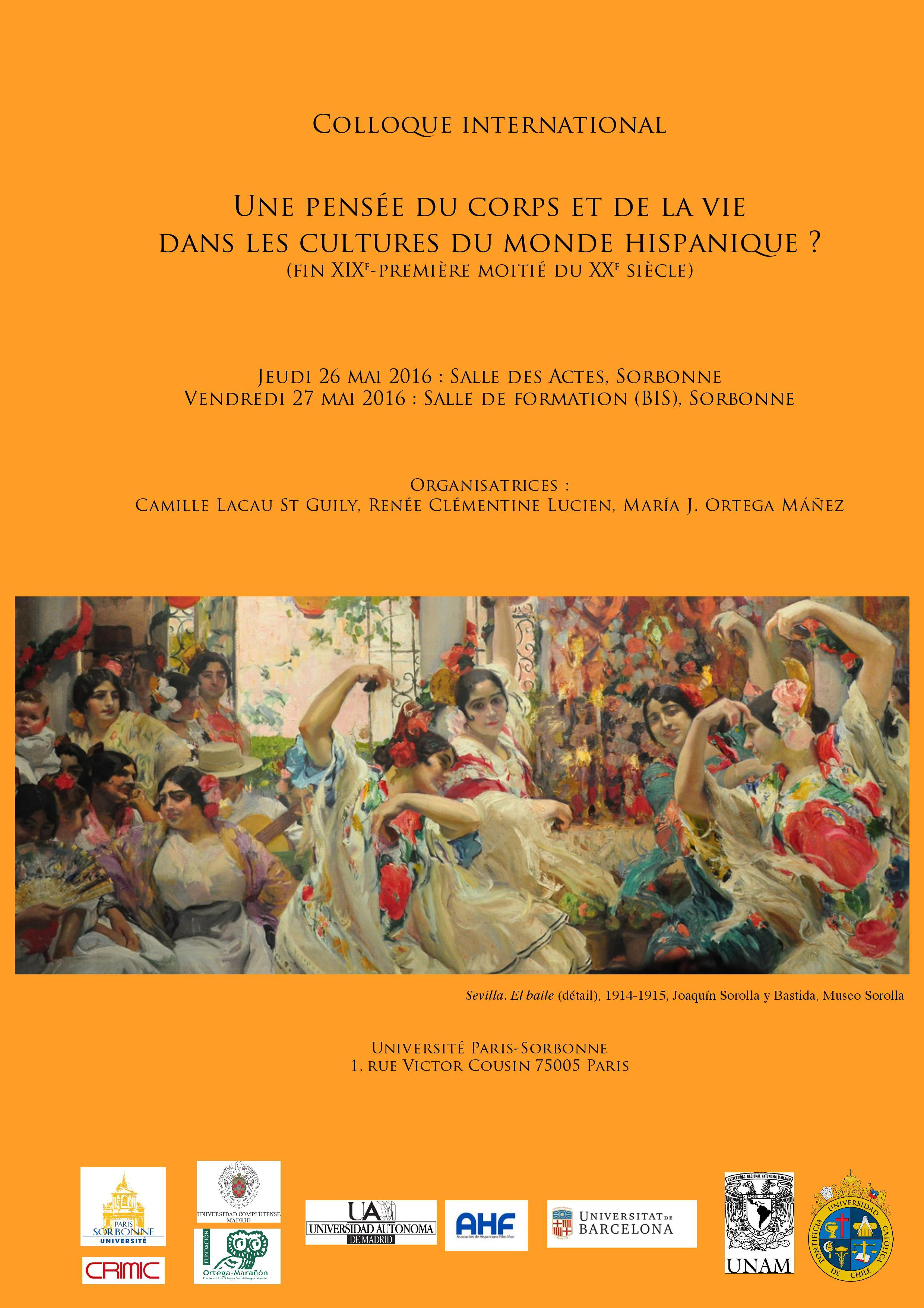 Une pensée du corps et de la vie  dans les cultures du monde hispanique ? (fin XIXe-première moitié du XXe siècle)
