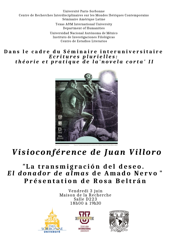 Visioconférence de Juan Villoro