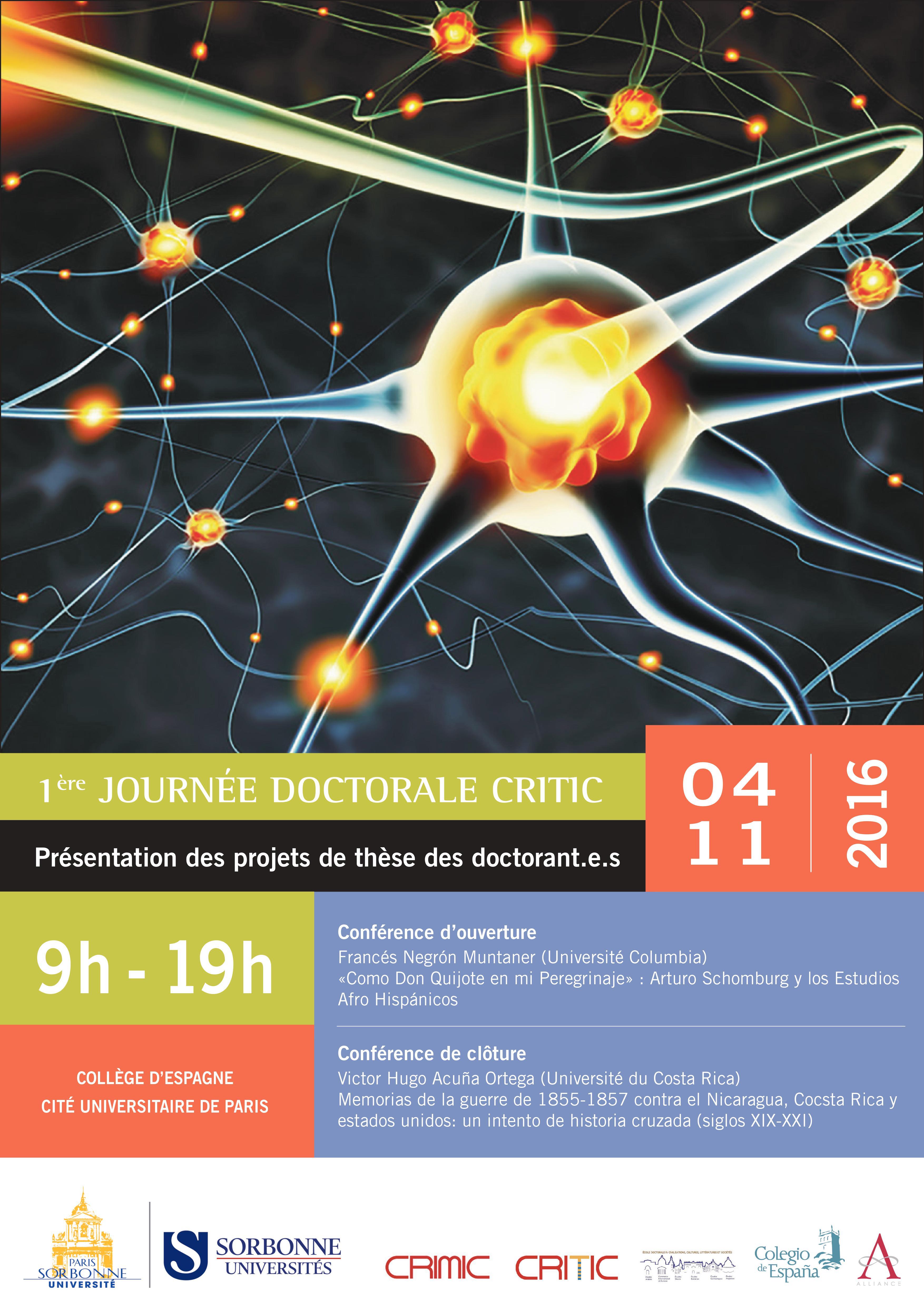 Première journée doctorale du CRIMIC, Paris-Sorbonne (CRITIC)