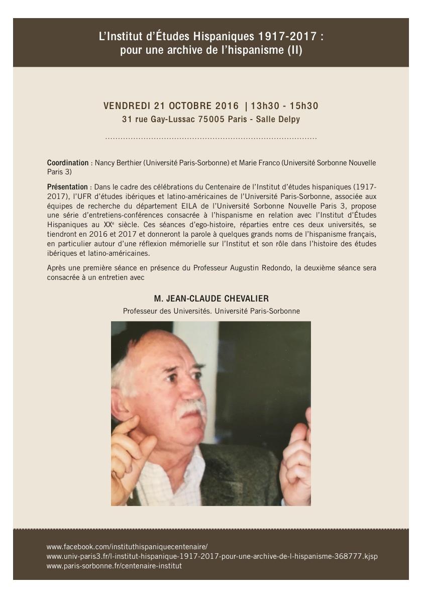 L'Institut d'Études Hispaniques 1917-2017 : pour une archive de l'hispanisme (II)
