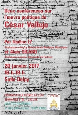 Autour de l'œuvre poétique de César Vallejo