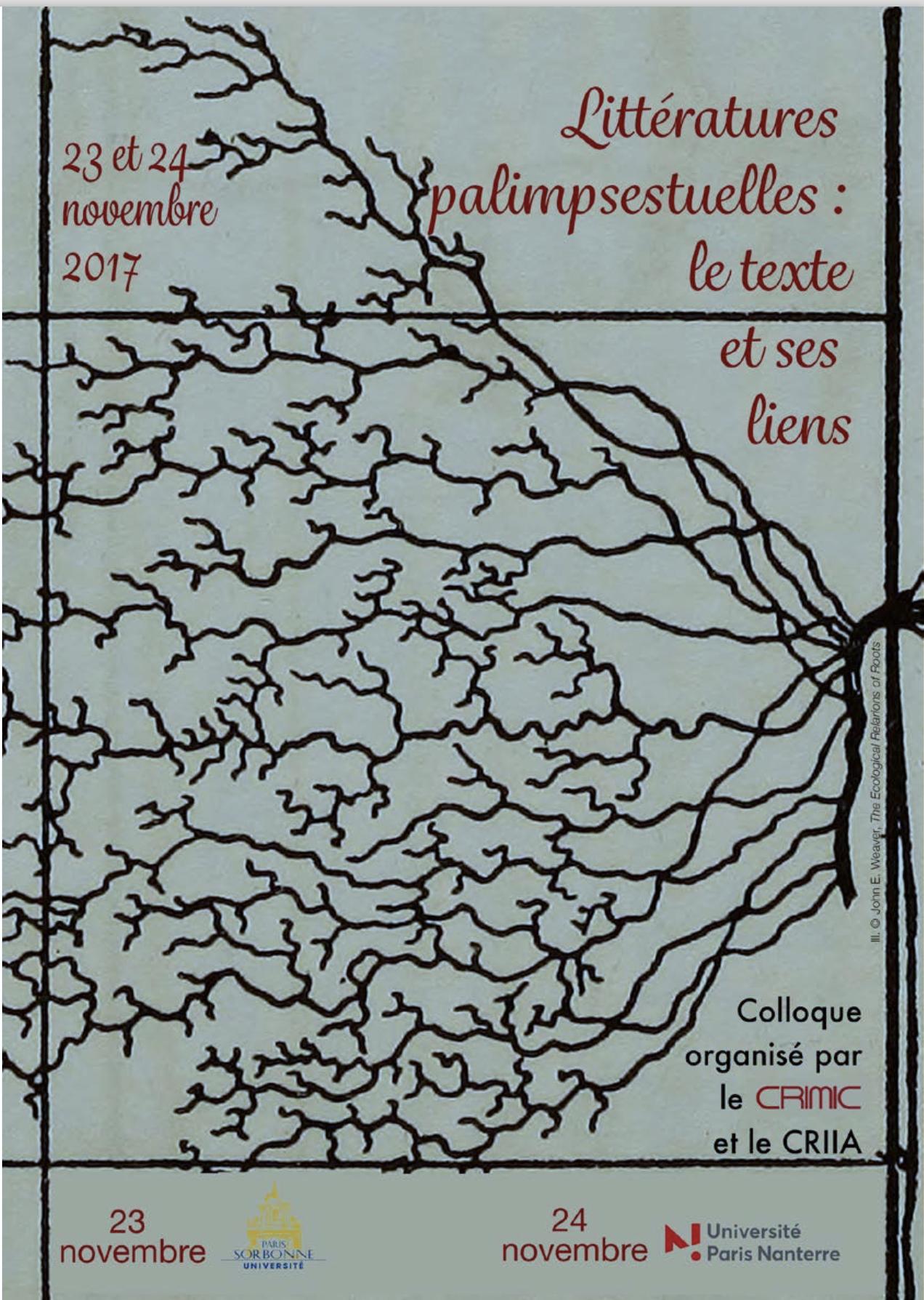 Littératures palimpsestuelles : le texte et ses liens