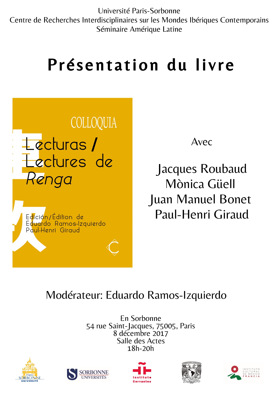 Présentation du livre Lecturas / Lectures de Renga