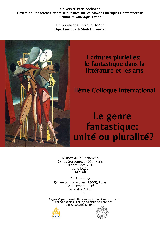 Colloque International « Le genre fantastique: unité ou pluralité? »