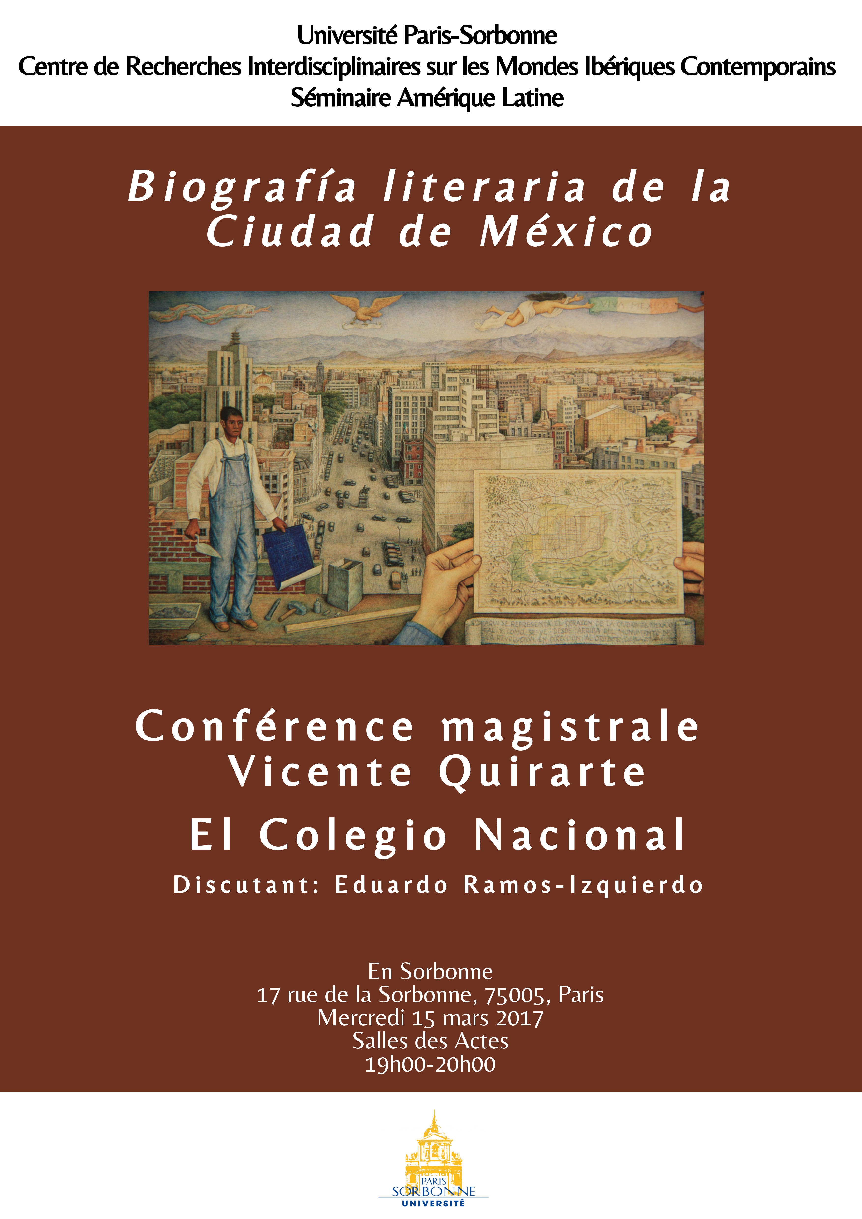 Conférence magistrale Vicente Quirarte
