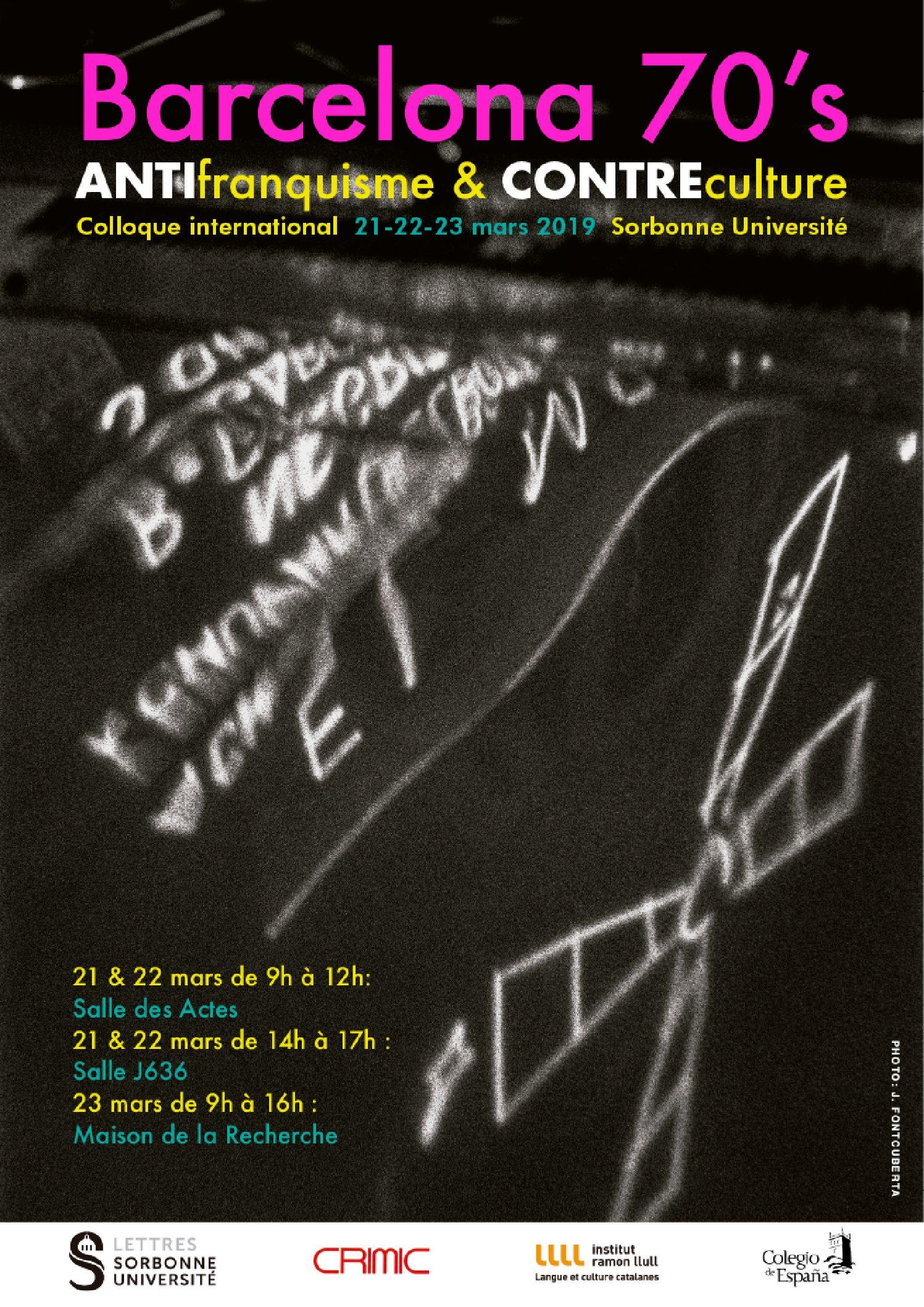 Barcelona 70's Antifranquisme & contreculture