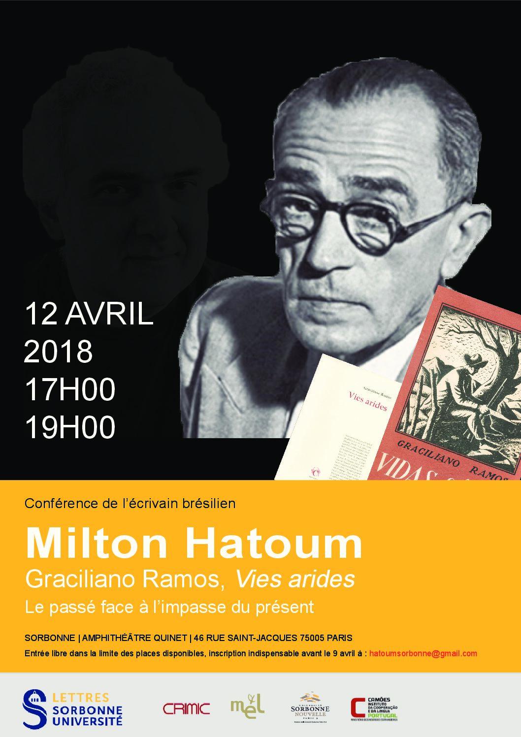 Conférence de Milton Hatoum sur Graciliano Ramos