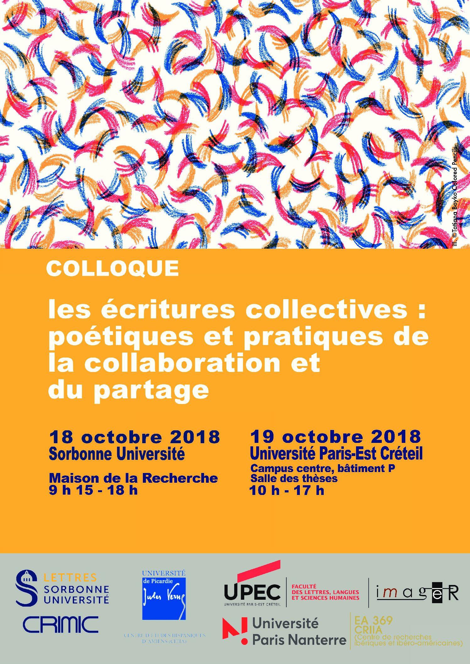 Les écritures collectives : poétiques et pratiques de la collaboration et du partage