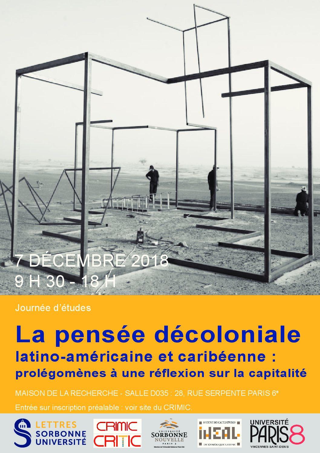 La pensée décoloniale  latino-américaine et caribéenne :  prolégomènes à une réflexion sur la capitalité