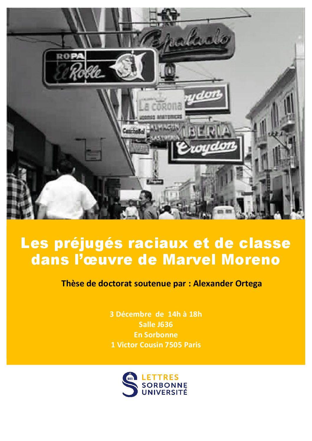 Les préjugés raciaux et de classe dans l'œuvre de Marvel Moreno