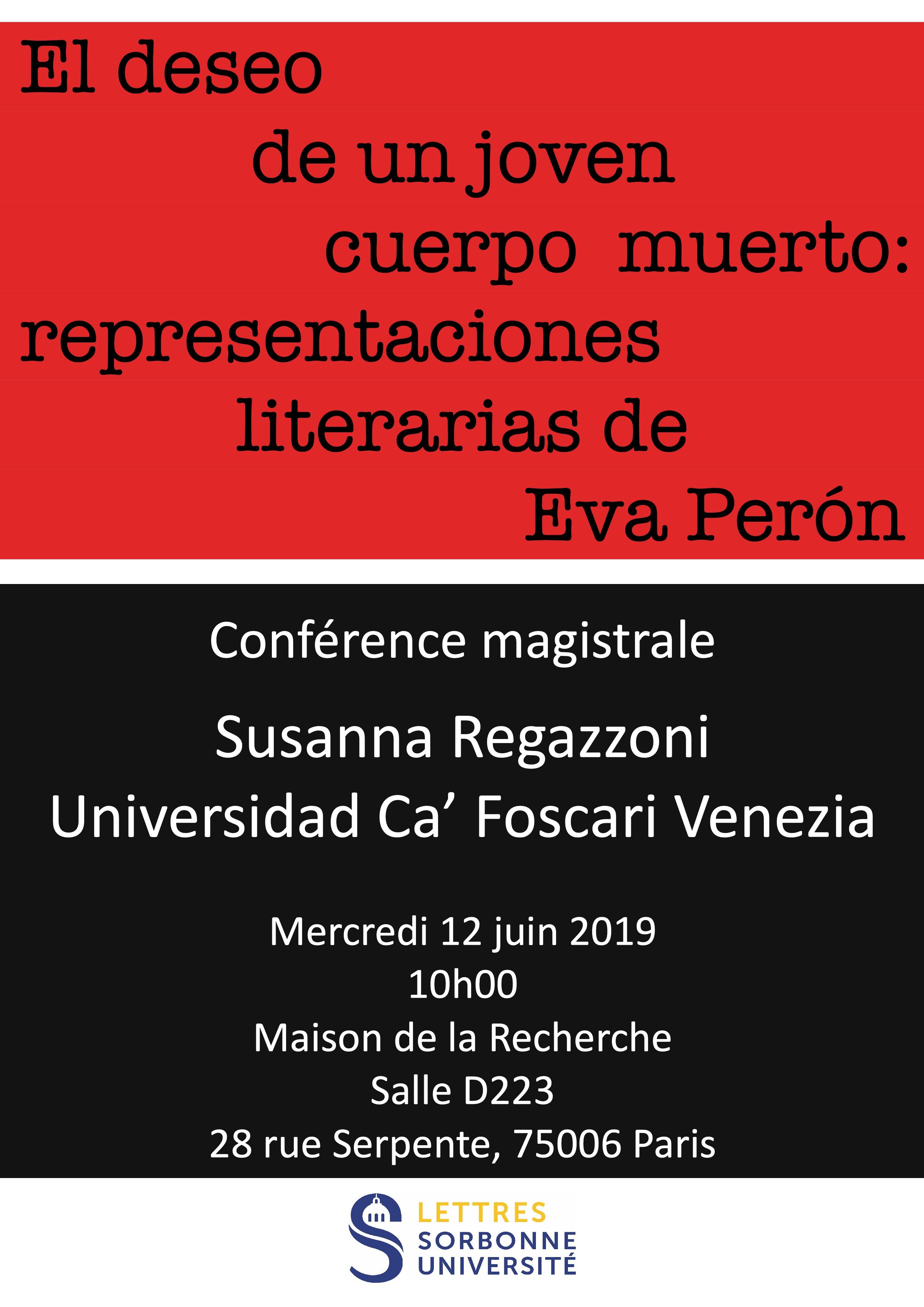 El deseo de un joven cuerpo muerto: representaciones literarias de Eva Perón