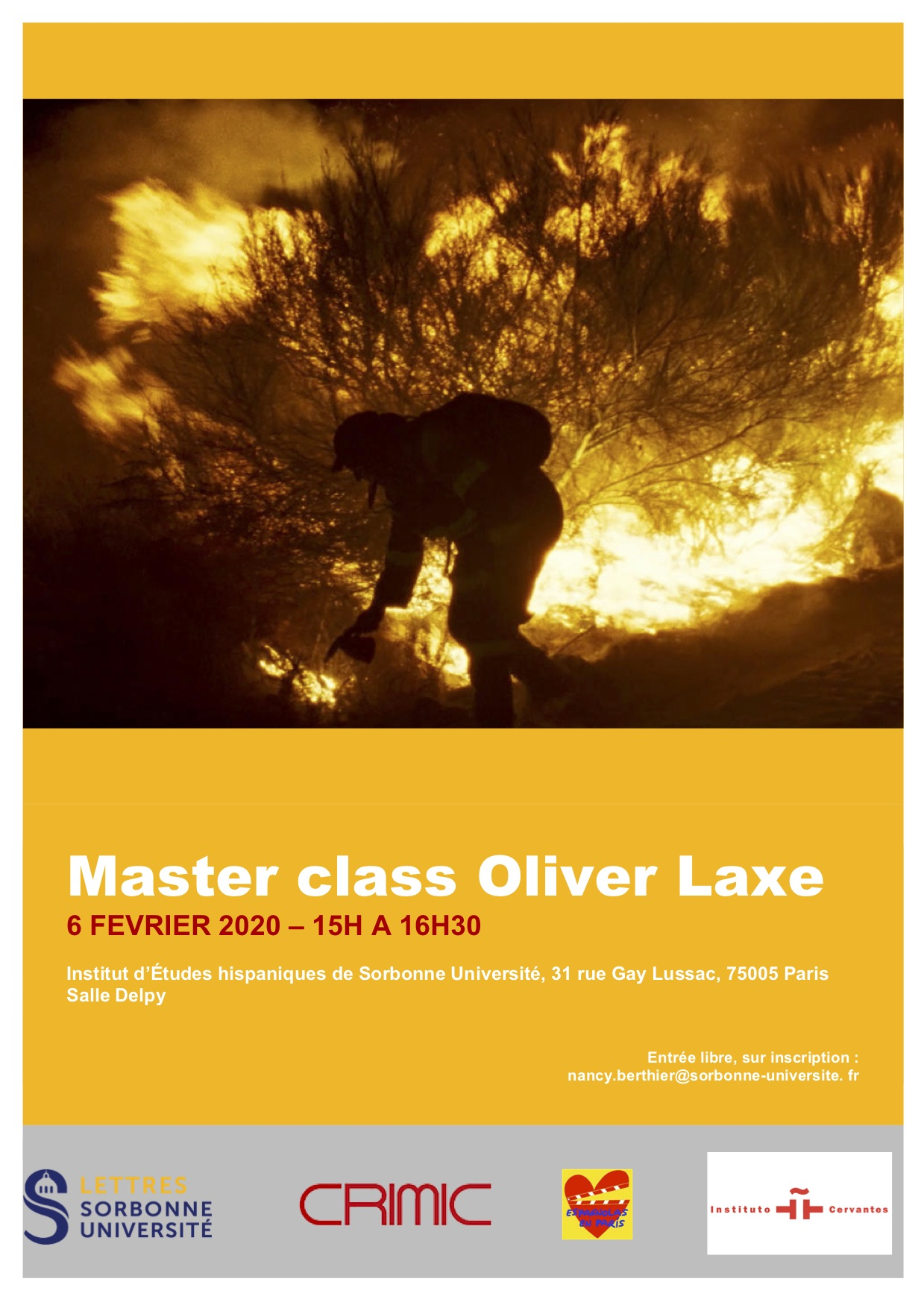 Master class avec le cinéaste Oliver Laxe
