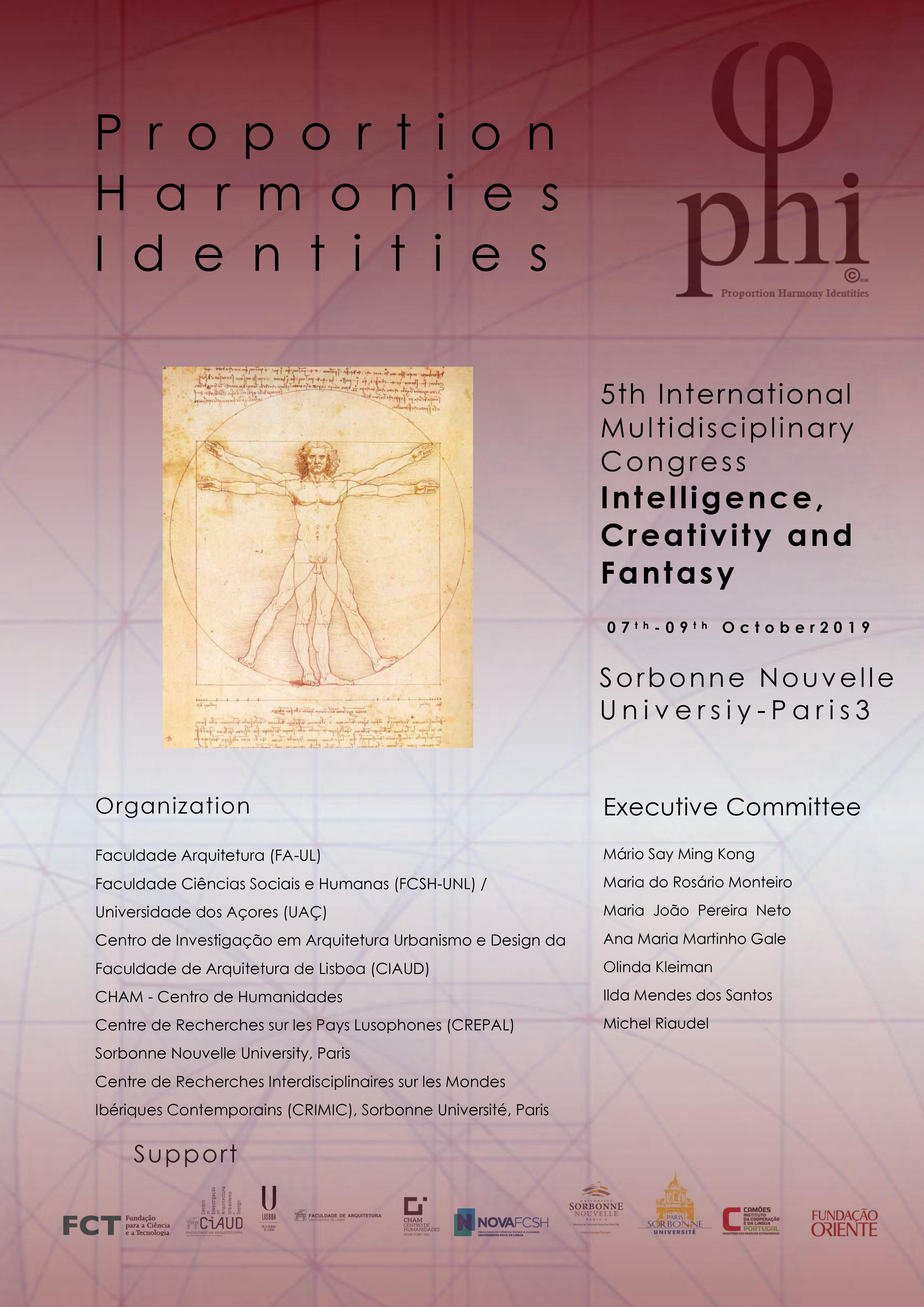 """5e Congrès international : """"Intelligence, Créativité et Imaginaire"""""""
