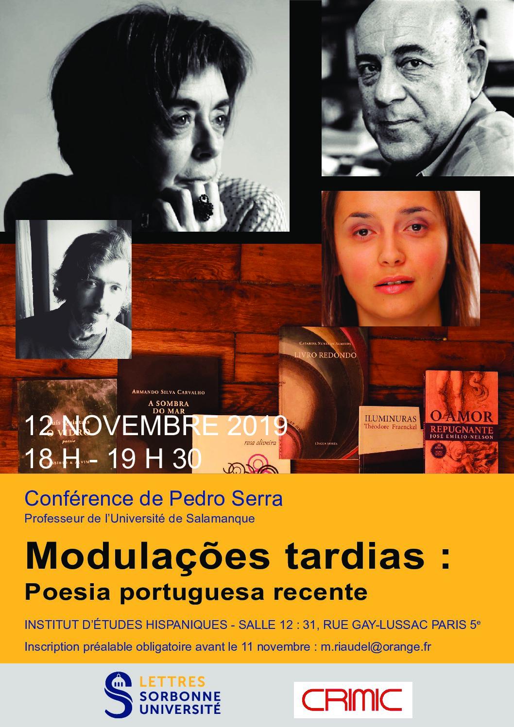 Modulações tardias: poesia portuguesa recente