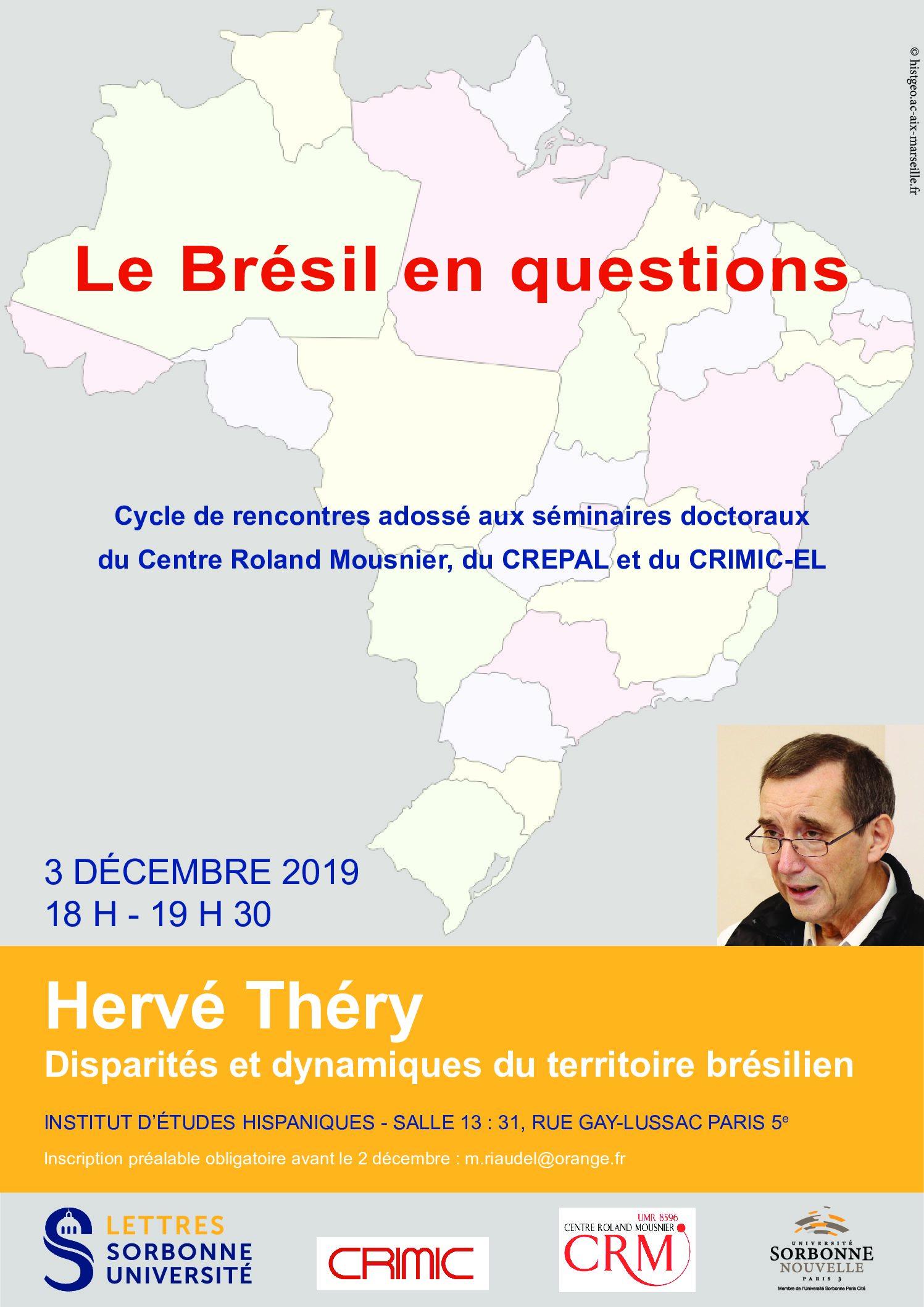 Hervé Théry, « Disparités et dynamiques du territoire brésilien »