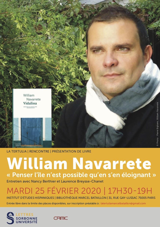 William Navarrete: « Penser l'île n'est possible qu'en s'en éloignant »