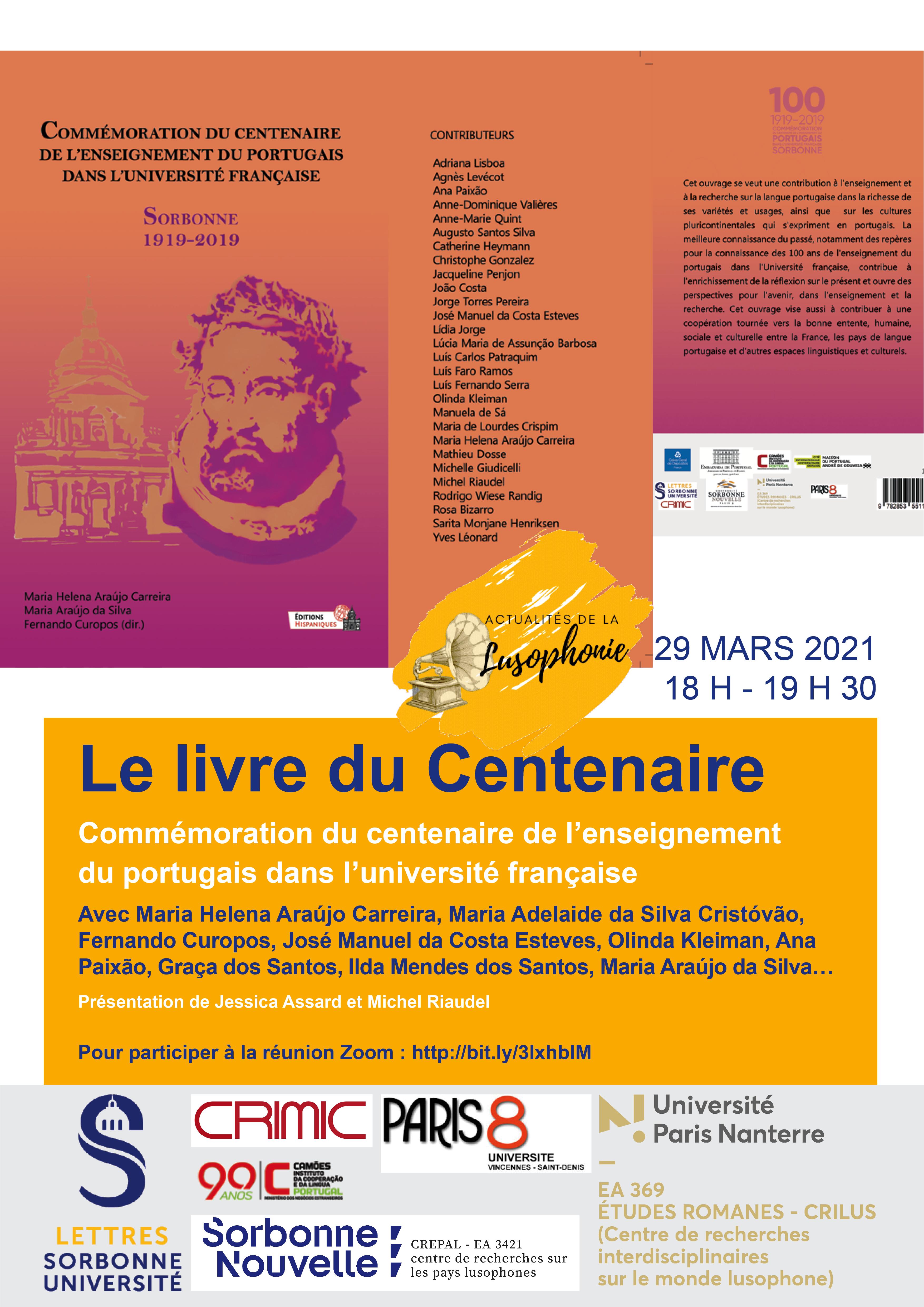Le livre du Centenaire de l'enseignement du portugais à l'université française